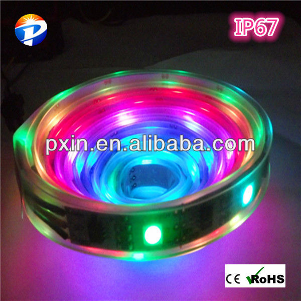 car curtain rail DC5V TM1803 5050smd 32leds/m 10w/m IP67 waterproof flexible dream color rgb led strip