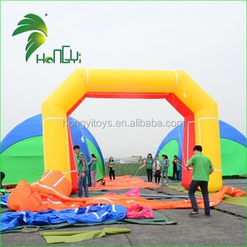 Clown Inflatable Arch Door, Colorful Entrance Archway, Inflatable Finish Line Arch