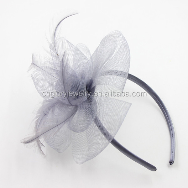 Yiwu China wonderful grey fascinator wholesale