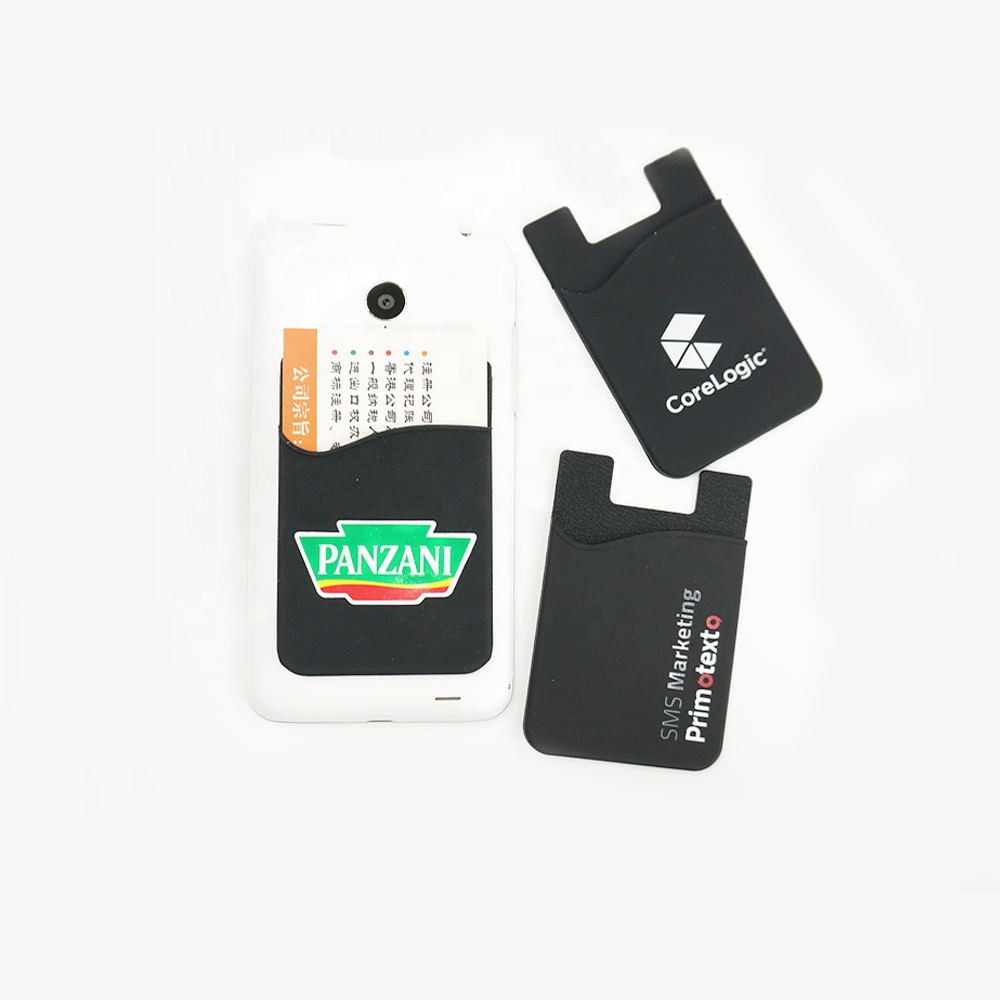 Eco-friendly 3M sticker silicone <strong>mobile</strong> <strong>phone</strong> credit card holder