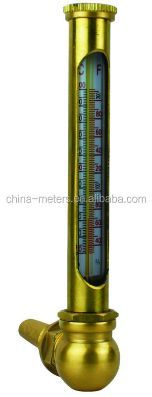 BSPT Stainless Steel Enclosed Scale Metal Tube Liquid Glass Thermometer For Ships