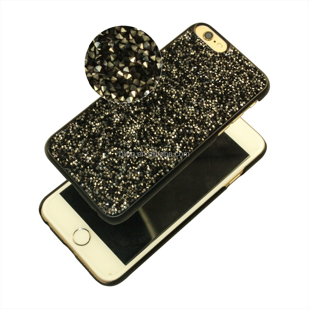 Factory High quality Free Sample Beautiful Bling Glitter Hard Mobile Phone Back Case Cover for iPhone 6