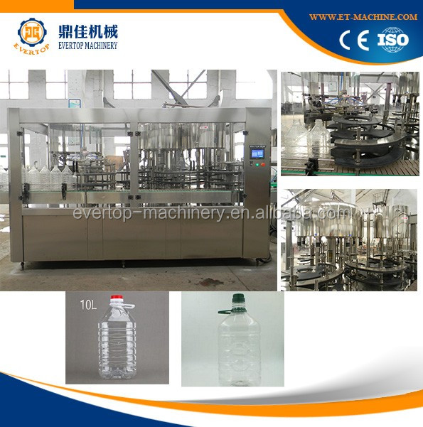 Automatic 3 in 1 10 Liter Bottle Filling Machine For Water