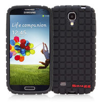Snugg case for Samsung Galaxy S4 Squared Skinny Fit Protective Cover in Black
