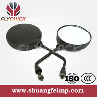 FLYQUICK Universal aftermarket scooter plastic motorcycle rear view side plastic mirror for BAJIA BOXER CT100,wholesale price