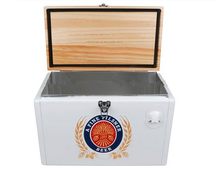 25L large capacity wooden material cooler box