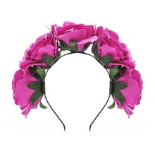 Fabric Floral Crown Headband Rose Hair Accessories Hairbands