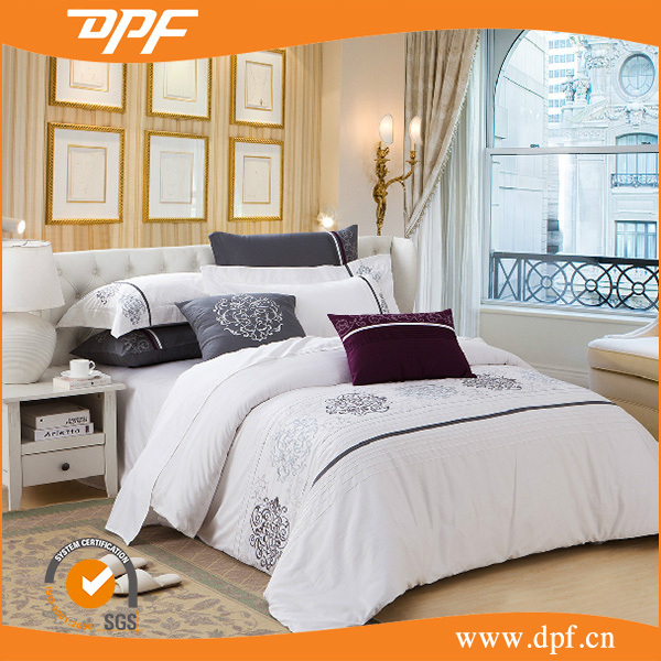 2015 cotton luxury satin used hotel bed sheets set 5 star