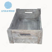FSC Burlywood Wooden Storage Box Home Decoratation Wholesale