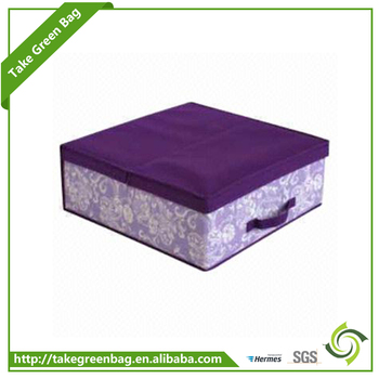 Hot sale 80gsm non woven toy storage box with lid