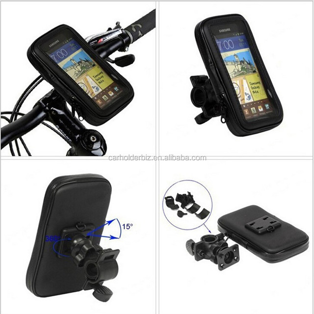 Waterproof Pouch with Bike Phone Holder Handlebar Mount Cell Phone Holder for Samsung GALAXY S7 Edge S6 S5 for iphone 7 5.5 Inch