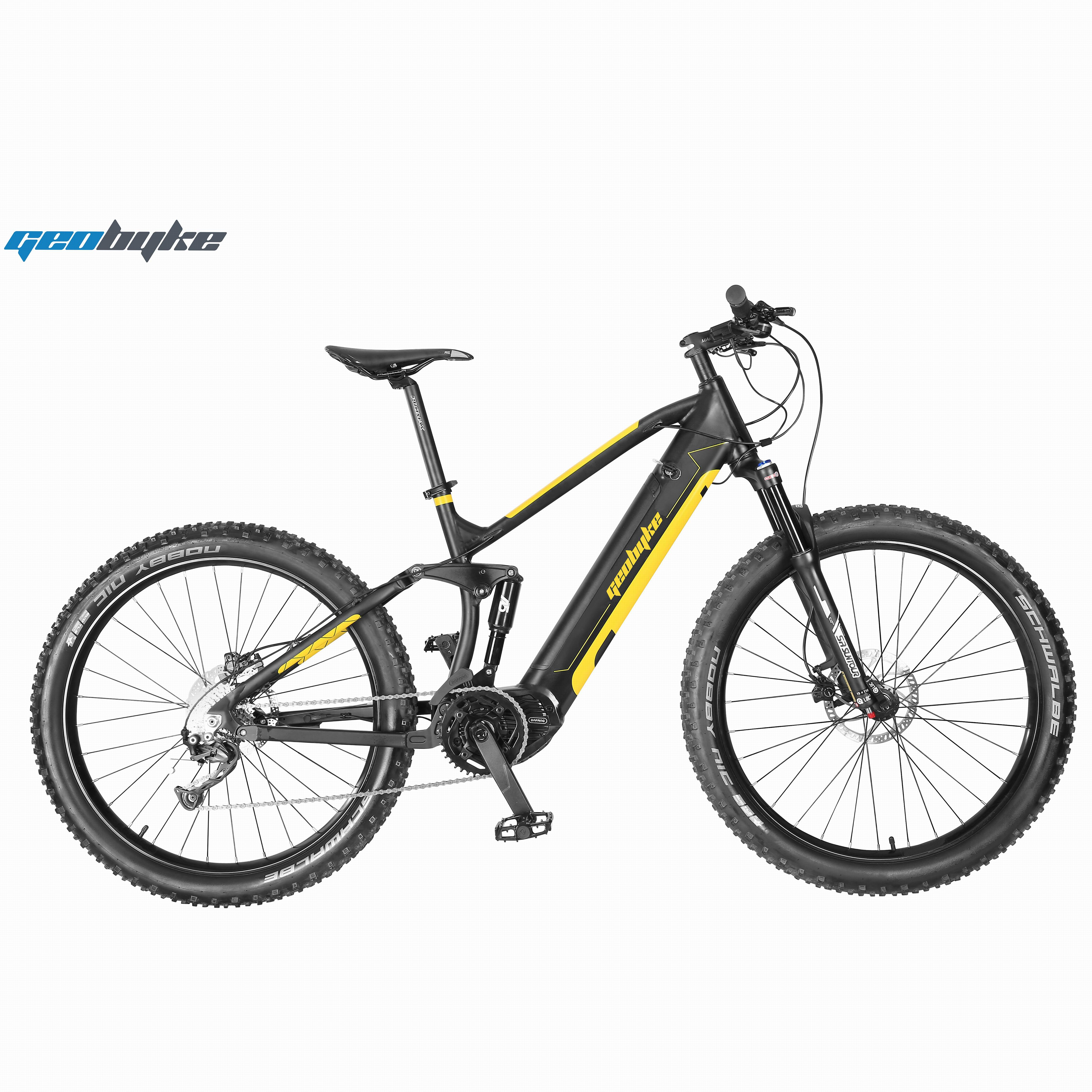 Full Suspension Electric Mountain <strong>Bike</strong> Mid Driving with Hidden Battery 48V14.5A