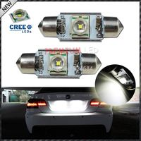 High Power Xenon White 5W CRE'E-Q5 No Polarity Canbus Error Free c5w 36mm Festoon LED License Plate Light Bulbs