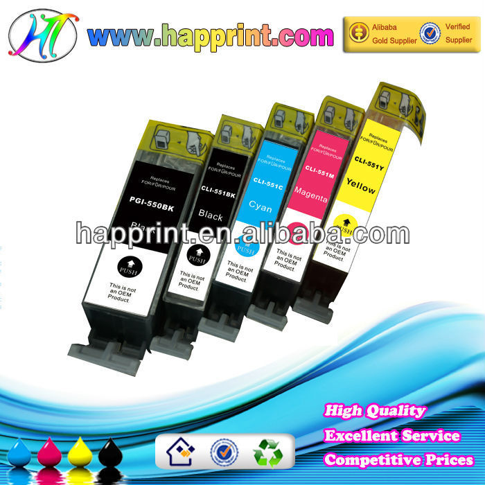 compatible ink for Canon PGI 550 CLI 551 compatible ink jet cartridge