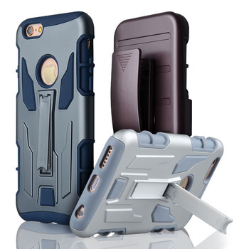 C&T Dual Layer Hybrid Armor Protective Belt Clip Holster Case For Apple iPhone 6