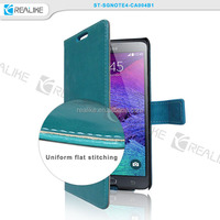 New stand wallet card holder pu leather flip style for note 4 case