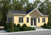 2015 Popular modern modular resort frame villa light steel prefabricated houses for sale