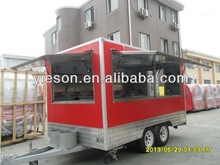 Quick Delivery outdoor mobile candy / sweets making / hot chocolate food stands machine trailer YS-FV400B-1