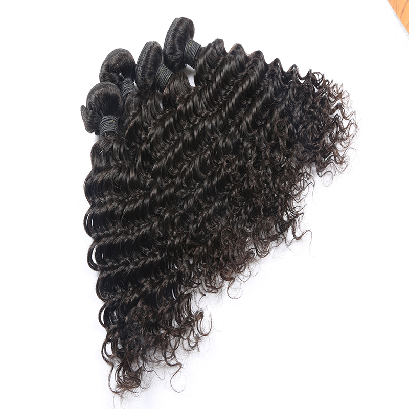 100% Brazilian Malaysian Indian Water Loose Deep Body Wave Kinky Curly Straight Virgin Human Hair 3 Bundles With Closure