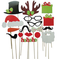 Photo Booth Props Mustache On Stick For Birthday Christmas Party Gift