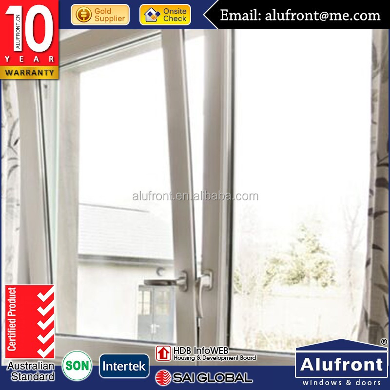 AS2047 high quality aluminium frame turn and tilt out window with AS2208 Double Glazing Glass