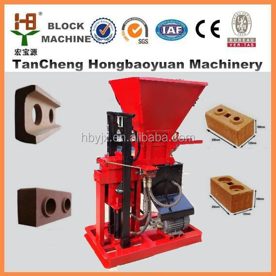 Real supplier HBY1-15 interlock clay brick making machine south africa with Clay,shale,coal slack,fly ash material