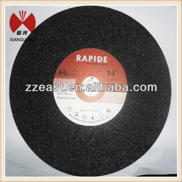 "Resin bonded 14"" abrasive cheap cutting disc for metal manufactuer in China"