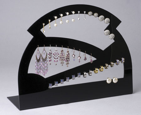 Exceptional Superior High Grade Arylic Earring/Necklace Holder Ring Rack