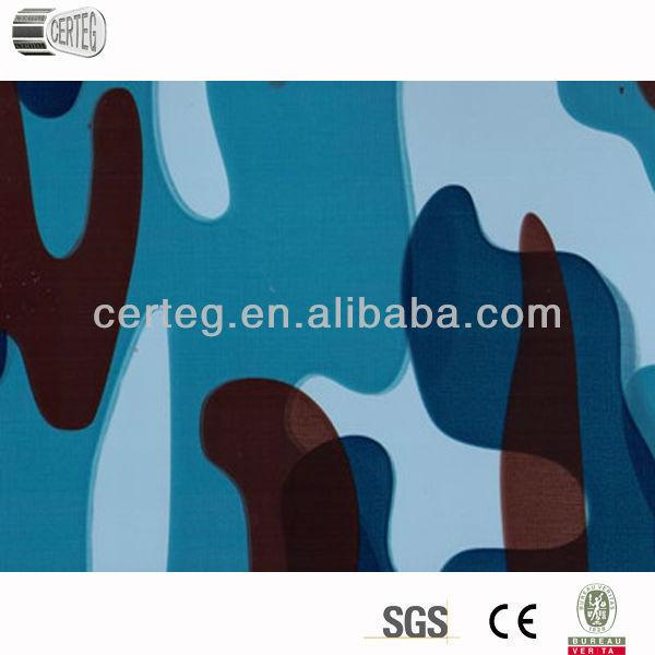 Neoprene sheet camouflage wooden granite color steel sheet