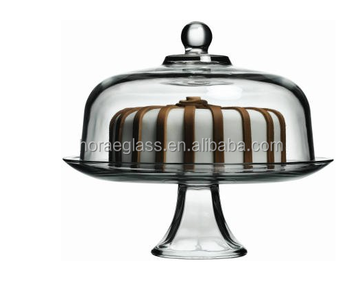 Wholesale Dining Glass Cake Dome(Pack of 2) Clear Glass Cake Dome,Glass Cake Cover