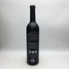 Empty 750ml black frosted glass liquor bottles wholesale