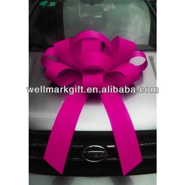 30 inch Valentine's Day Decorations Jumbo Fushia Magnetic Car Bow