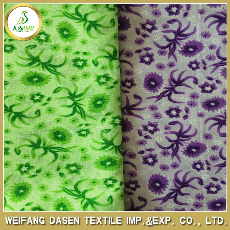 Polyester / Cotton Material and Printed Pattern prints fabric and textiles