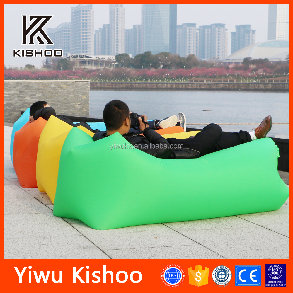 Hangout beach sofa Inflatable lounge Laybag custom printed airbag sofa