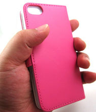 2014 hot selling high quality PU wallet case for iphone 5