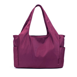 Leisure style functional women lady nylon handbag for daily use