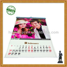 Full color Romantic couple photo wall calendar printing