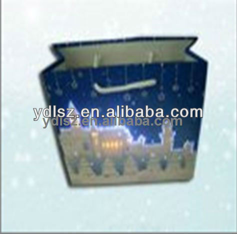 2013 beautiful peacock led flashing gift bags