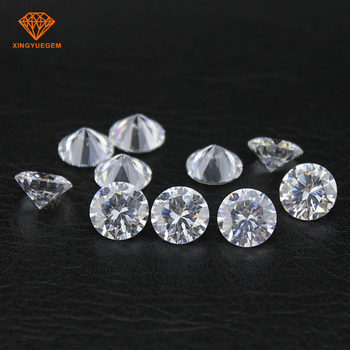 Synthetic Gemstone Round White 5.0mm Cubic Zirconia Loose Stones