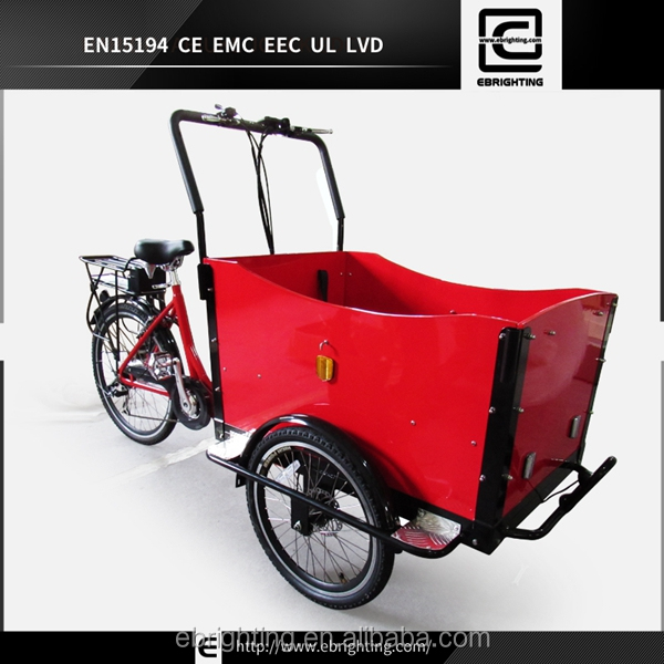 electric cargo bike with 8fun mid drive motor kits street vendor cargo triporteur/ triciclo