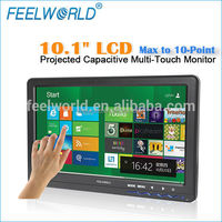 Capacitive tft multi touch screen 16:9 10 inch monitor hdmi