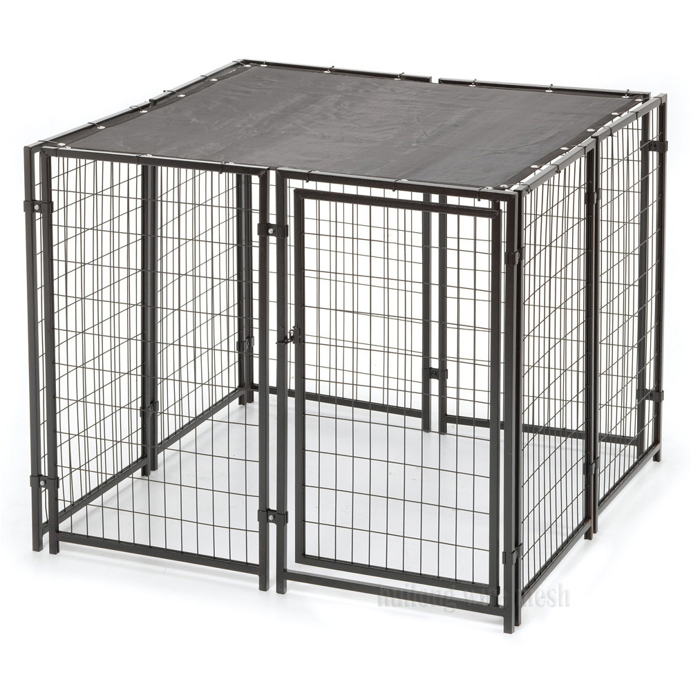 DIY Welded Wire Dog Kennel Shade Cover Factory Direct