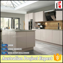 Flat pack Modern high gloss Laminated kitchen cabinets design