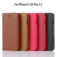 For Amazon Sheep Skin Pattern No Belt Strong Magnet Flip Wallet Cover PU Leather Case for iPhone 6S Plus