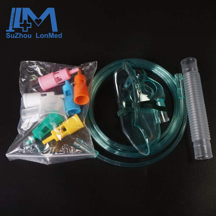 Oxygen flow adjustable venturi mascarilla with 6pcs colored venturi connectors