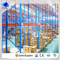 Drive Through Warehouse Storage Racks Metal Sliding Pallet