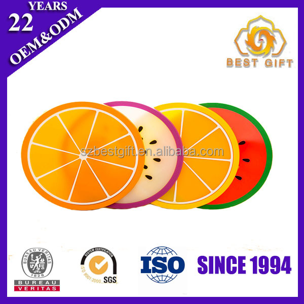 Wholesale glass coasters silicone PVC placemat for kids