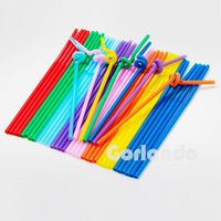 Factory custom-made cool colored plastic drinking straw