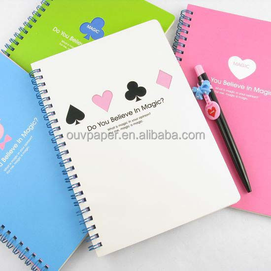 promotion spiral notebook color pages with paper cover