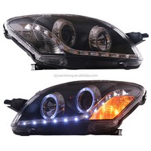 1 year warranty long lifetime For Toyoto Vios 2008 Led Projector Headlight with angel eyes